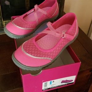 Pink Sporty Mary Janes